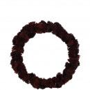 Succulent wreath, diameter 20cm, bordo